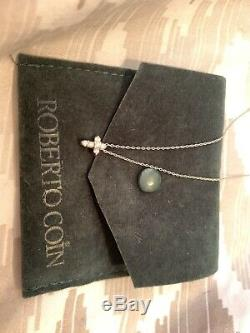 Authentic Tiny Treasures Diamond Baby Cross Necklace Roberto Coin White Gold