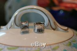 Beautiful Roberto Coin 18kt White Gold Huggie Earrings