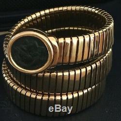 Bulgari 18k Serpenti Tubogas Ancient Coin Bracelet