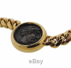 Bvlgari Bulgari 18K Gold Ancient Coin Necklace