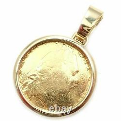 Bvlgari Bulgari 18k Gold SS King George III 22k Gold Coin Pendant Link Necklace