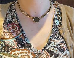 Bvlgari Bulgari 18k Tri Color Gold Roman Empire Ancient Coin Necklace
