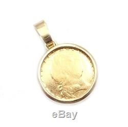 Bvlgari Bulgari 18k Yellow Gold King George III 22k Gold Coin Pendant 1780's