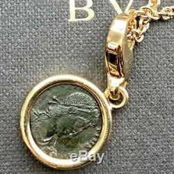 Bvlgari Monete 18kt Yellow Gold Ancient Bronze Roman Coin Charm / Pendant
