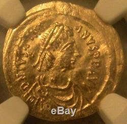 Byzantine Empire Gold Coin Justinian 1 AD 527-565 AV Tremissis