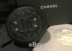 CHANEL Black Filigree O Coin Case 19S A81458 Y60542 94305
