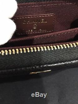 CHANEL Classic Zippy Coin Purse in Black Caviar with Gold-Tone Hardware NEW