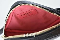 Chanel 20K Black Diamond Caviar Quilted Gold CC Waist Fanny Pack Bum Belt Bag