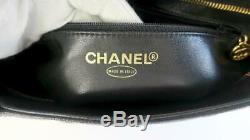Chanel Black Caviar Leather Gold Medallion Tote Bag Mint