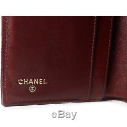 Chanel Black Caviar Wallet Leather Gold CC Quilted Flap Coin Purse Bag