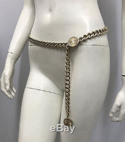 Chanel Gold Tone Metal Swag Belt 2 CC Coins 96 P Comes Inside A Chanel Box