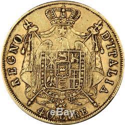 Coins Italy, Italia, Kingdom of Napoleon, 40 Lira