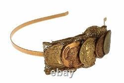 DOLCE & GABBANA Gold Brass Roman Coin Headband NEW