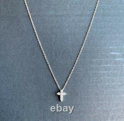 Designer Roberto CoinTiny Treasures White Gold Small Diamond Cross Neck