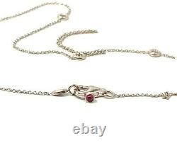 Designer Roberto Coin 18K White Gold Diamonds By The Yard Necklace