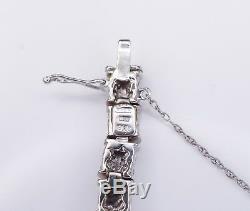 Designer Roberto Coin 18k White Gold Diamond Panel Tennis Bracelet 4 carat BG357