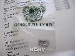 Designer Roberto Coin Diamond 18k White Gold Woven Bracelet 24.4 grams of Gold
