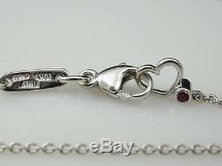 Diamond Necklace 18K White Gold Roberto Coin Fine Jewelry 17.75 Adjustable Fine