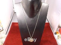 EXCELLENT 18K DIAMOND BEZEL & NECKLACE, 1987.1875oz 22K GOLD $100 BAHAMIAN COIN