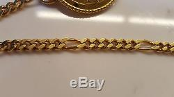 FENDI logo belt necklace HTF Janus Roman gold coin chain rare couture piece