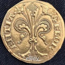 FLORIN ITALY FLORENCE ANCIENT GOLD COIN FLORINO D'ORO 1252 to 1533 RARE P35