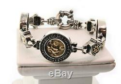 Flli Menegatti Coin Style Bracelet in Sterling/14K