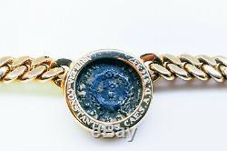 GENUINE BULGARI Ancient Coin GOLD Necklace