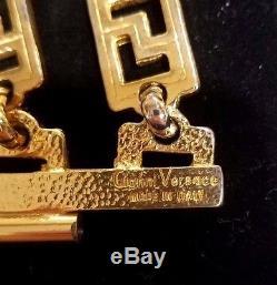 GIANNI VERSACE Vintage Gold Metal Medusa Coin Multi-Chain Bracelet