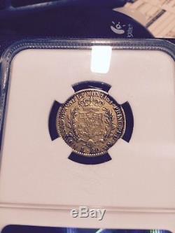 GOLD Sardinia 1828 20 lire NGC XF-40