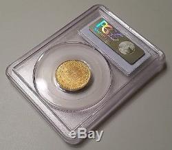 Gold 1882-R Italy 20 Lire PCGS MS63 Rare Scarce Uncirculated UNC Rome Roman Coin