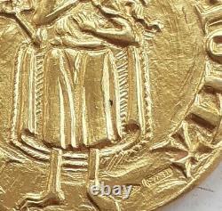 Gold florin coin token, Italy, Florence UNC