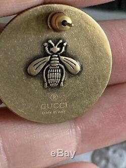 Gucci Large Coin Bee Stud Earrings Made In Italy New In Box