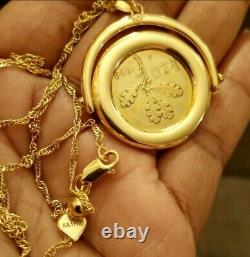 Handmade in Italy Italian 1958 Vintage Lira Coin Necklace Gold over 925 Silver