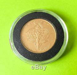 IGC-P1765 QUEEN FARAH PAHLAVI FAO 917 GOLD COIN MEDAL 15g ITALY MINTED