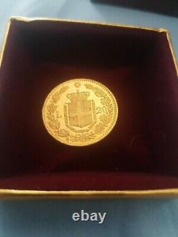 ITALY 1882 - KING UMBERTO I -20 LIRE GOLD COIN! - MINT- circulated