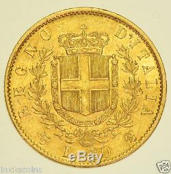 ITALY, EMANUELLE II, 20 LIRA, 1862 GOLD COIN aEF