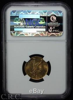 ITALY Gold 50 Lire 1931-R IX NGC MS63 KM#71 Rare