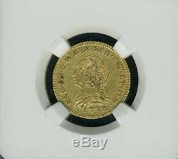 Italy/italian States Sardinia 1772 1/2 Doppia Gold Coin Certified Ngc Xf-45