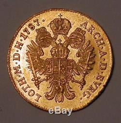 ITALY, Milan. Joseph II 1787 gold Zecchino(ducat)Ongaro Imperiale UNC DETAILS
