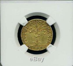 Italy Papal States 1789 Doppia Gold Coin, Almost Uncirculated Certified Ngc Au50