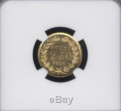 Italy Papal States 1861 2 1/2 Scudi Gold Coin Uncirculated Certified Ngc Ms 66