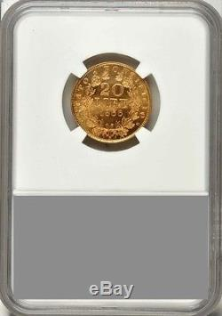 Italy Papal States 1866 20 Lire Gold Coin Choice Uncirculated Certified Ngc Ms64