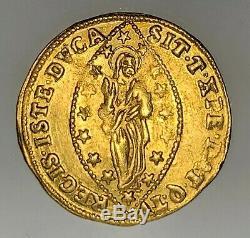 ITALY. VENICE. FRANCESCO LOREDANO Zecchino! 1752 1762 AD SCARCE! CHOICE COIN