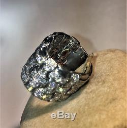 Italian Jewelry Roberto Coin Appassionata White Gold 3 Row Diamond Ring