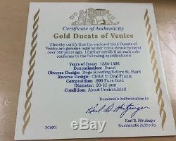 Italian States Venice Two GOLD Ducat/Zecchino
