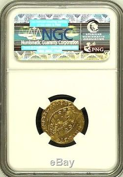 Italy 1789-1797 Gold Coin Zecchino Venice St Mark FR-1445 NGC AU Details