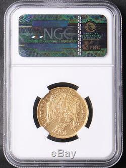 Italy 1810 Kingdom of Napoleon 40 Lira Lire Gold Coin NGC XF 45