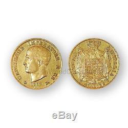 Italy 1814M Kingdom of Napoleon 40 Lire Gold Coin AU