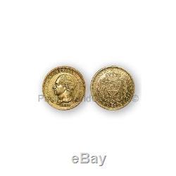 Italy 1828 Sardinia 80 Lire Gold Coin Unc Coin SKU#6905