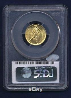 Italy 1931-r Yr. IX 50 Lire Uncirculated Gold Coin, Pcgs Certified Ngc Ms64